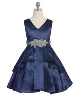 Satin Flower Girl ress J3819