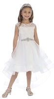 High Low Flowergirl Dress J3889