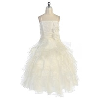Ogranza Tiered Flower Girl Dress, J880