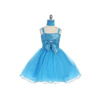 Glitter & Tulle Short Child Dress, J912