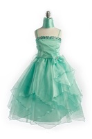 Mint Flower Girl Gown, J999