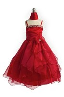 Red Child Pageant Gown, J999