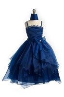 Organza Beaded Girl Pageant Gown J999