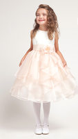 Chiffon Tiered Skirt Flower Girl Dress, K1145