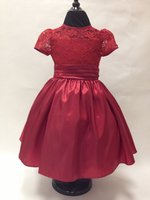 Lace & Taffeta Tea Dress, K1345