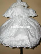 Baby Lace & Beaded Dress w/Train, K1400