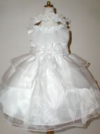 Satin & Organza Infant Dress, K224