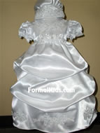 Satin Infant Gown w/Pickup, K574
