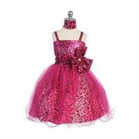 Leopard Sequin & Tulle Child Dress, KL267