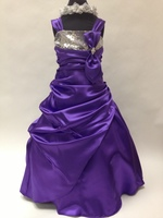 Sequin Satin Pickup Gown, KL5757