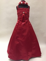 Lace & Satin Child Formal Gown, KL9000