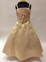 Lace & Satin Child Formal Dress, KL9000