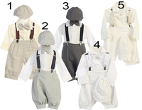 Boys Linen Knickers w/ Suspenders