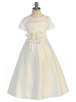 Lace & Flower Flower Girl Dress, FG2405
