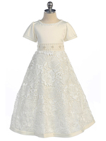 Lace & Beaded Flowergirl Dress, FG2408