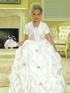 Beaded Pickup Child Formal Ballgown, MB621
