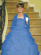 Satin & Organza Beaded Pageant Gown, MB801