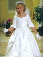 3/4 Sleeve, Tiered Skirt, Holy Communion Gown, MB805