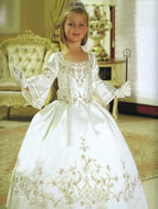 Beaded Taffeta 3/4 Sleeve Gown, MB809