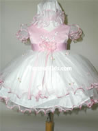 Baby Satin & Tulle Dress, J277