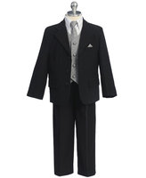 Boys Suit w/Patterned Vest, CS18