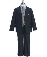 Infant & Boys Suit w/Patterned Vest, CS18