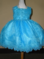 Beaded Key Whole Open Infant Pageant Dress,T223