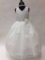 Halter Lace & Chiffon Flower Girl Dress, T552