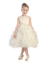 Rosette Child Formal Dress, T5581