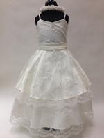 Lace Tiered Flower Girl Dress, T586