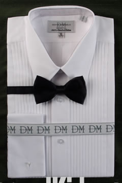Infant  & Boys White Tuxedo Shirt