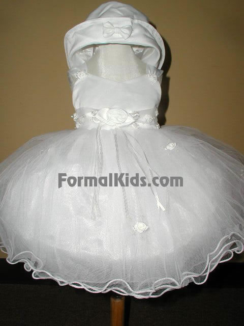 Satin & Tulle Infant Gown, U7100
