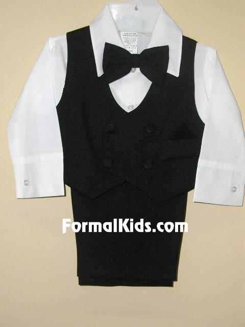 Infant & Toddler Vest Set , V2, Blk