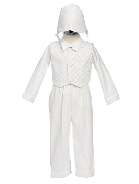 Patterned Boys Christening Outfit, CO3