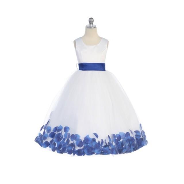 Flower Petal Flower Girl Gown, J2100