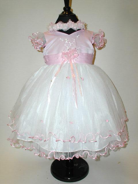 Tull & Satin Layered Toddler Dress, J277