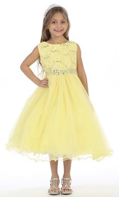 Lace Flower Girl Dress, J367