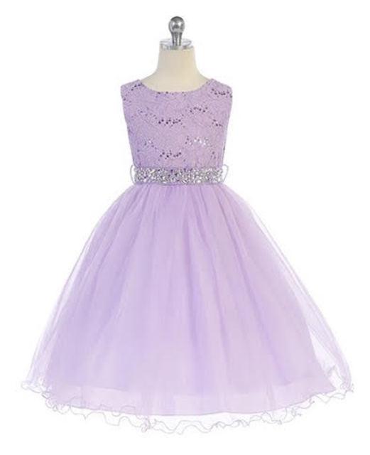 Lavender Flower Girl Dress, J367