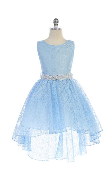 High Low Lace Girl Pageant Dress J374