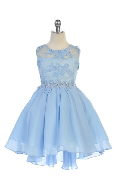 High Low Flower Girl Dress J387