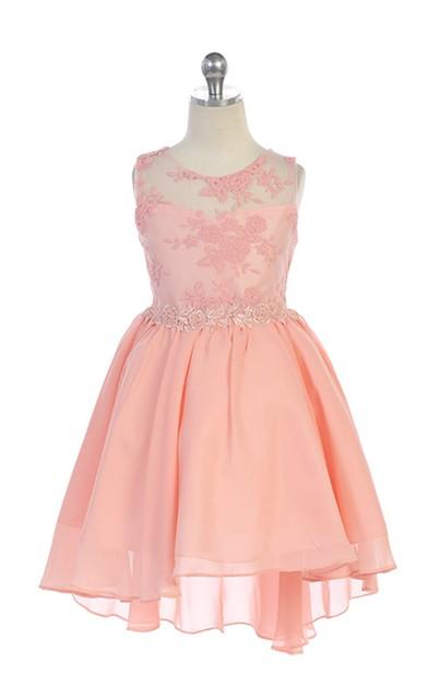 High Low Girls Pageant Dress J387