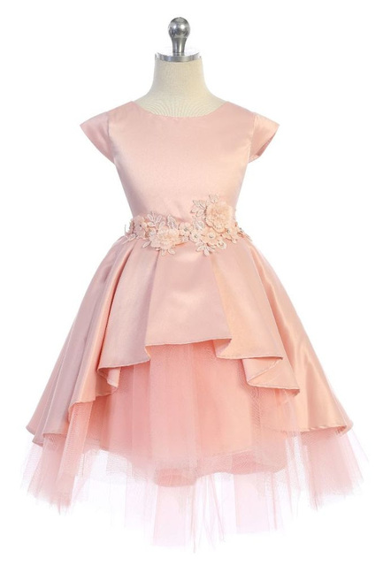 Satin & Tulle Pageant Dress, J396