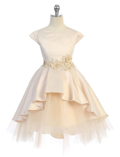 Satin & Tulle Pageant Dress J396