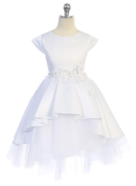 Satin & Tulle Flower Girl Dress J396