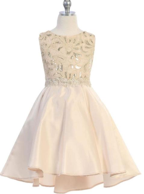 High Low Child Dress, J398
