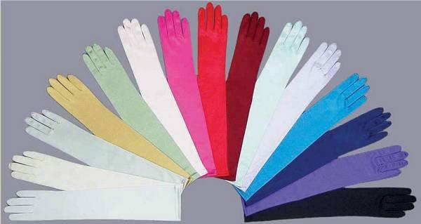 Adult & Teen Satin Long Gloves