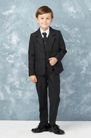 5pc Boys Black Suit CS13