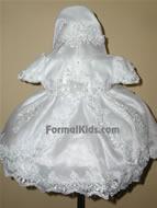 White Baby Dress w/ Train, K1300