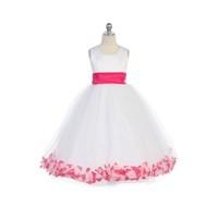 Flower Petal Child Princess Gown, J2100