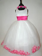Flower Petal Dress w/Custom Sash Color, J2100
